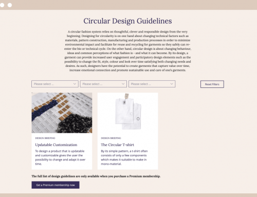 circular.fashion is developing a powerful software to enable a circular economy in the fashion and textile industries